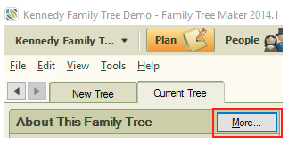 click the more button in the about this family tree section