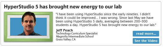 HyperStudio 5 has brought new energy to our lab