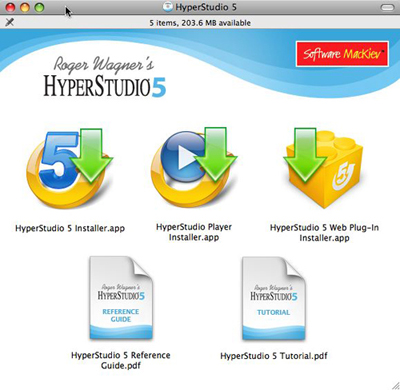 HyperStudio application