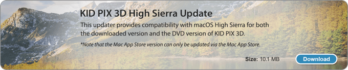 KID PIX 3D High Sierra Update
