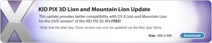 KID PIX 3D Lion and Mountain Lion Updater