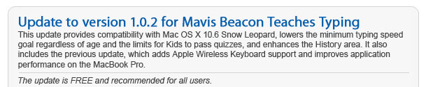 Update to version 1.0.2 for Mavis Beacon Teaches Typing