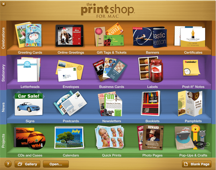 Software MacKiev - The Print Shop 4